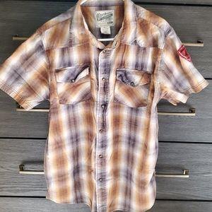 Overdrive Button Up Plaid Shirt